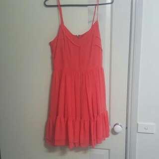 Peach Portmans Dress