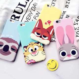 Zootopia Soft Phone Case iPhone 5/5s/5se 6/6plus 6s/6splus