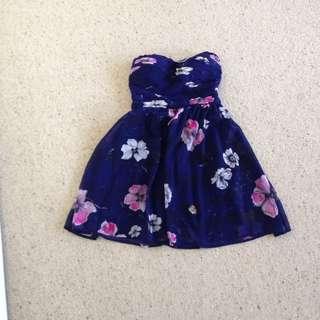 Floral Mini Formal Dress