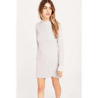 Minkpink grey funnel neck sweater dress