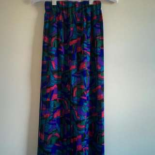 Vintage Pleat Skirt XS