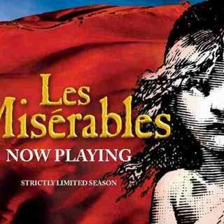 Les Miserables, Cameron Mackintosh (Musical) Ticket x2