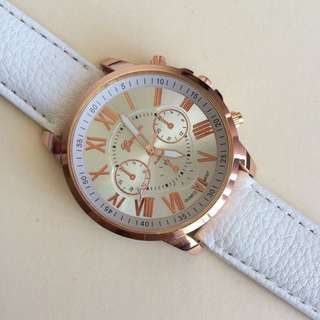 White And Gold Watch