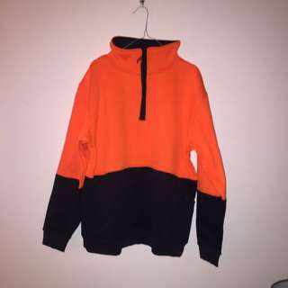Orange high vis jacket