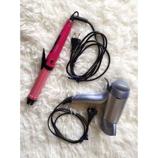 Hair Dryer + Catokan 2in1 (straight&curl)