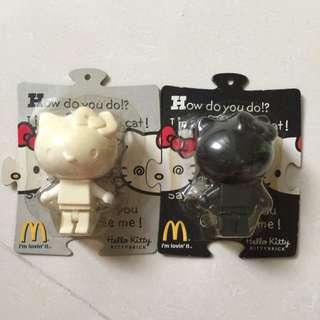 麥當勞 x Hello Kitty 黑白雙雄 復古玩具 收藏品 排隊商品