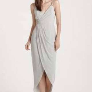 Size 8 Sheike Silver Dress