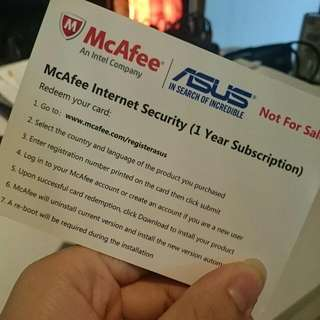 McAfee 12-mth License ($8 ONLY)