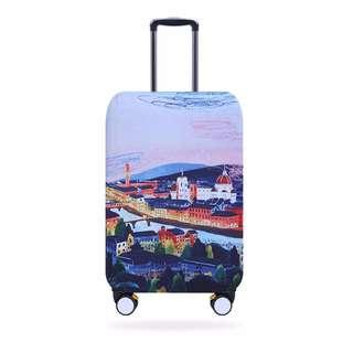 現+預【ITEM】鈕扣式 彈力行李箱套 行李箱防塵套 行李箱保護套