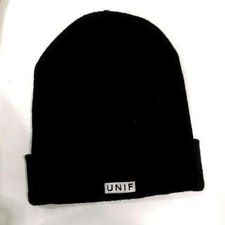 Unif 正版 笑臉 毛帽