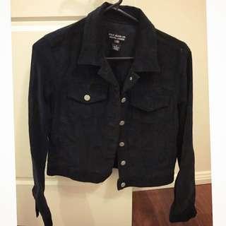 Black Corduroy Polo Jacket