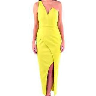 Seduce Yellow Cocktail Dress