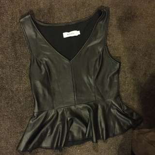 Plastic Leather Cute Top
