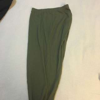 Khaki Side Skirt - S