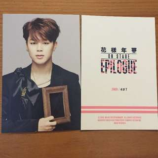 BTS On Stage Epilogue Official Photo Card Jimin 04