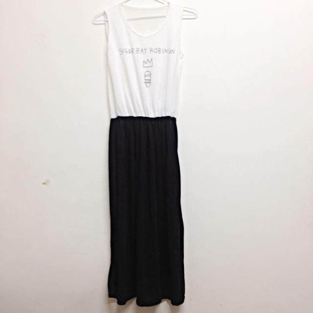 百搭黑白連身裙