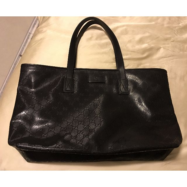 79e76cfb9afe20 Authentic Gucci Black GG Imprime Tote Bag, Luxury on Carousell