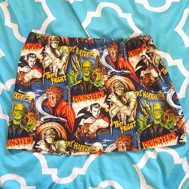 B Movie Horror Mini Skirt