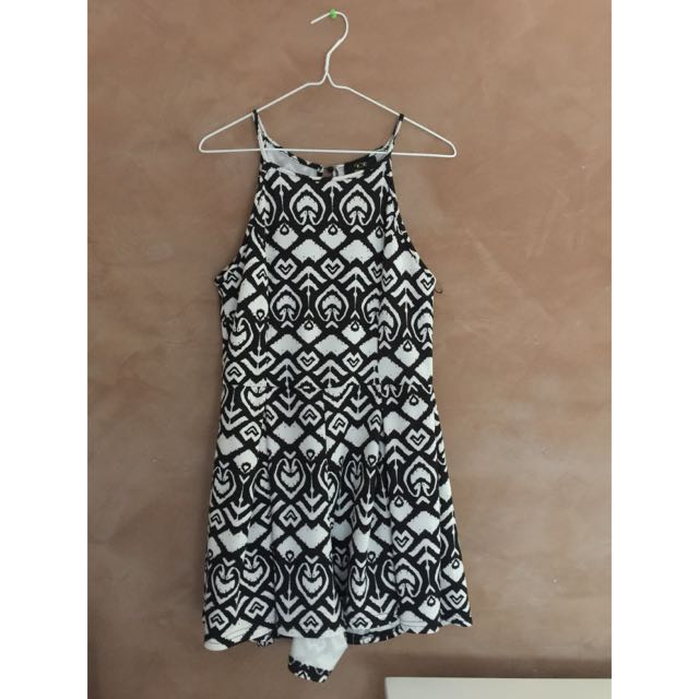 Black & White Patterned Playsuit