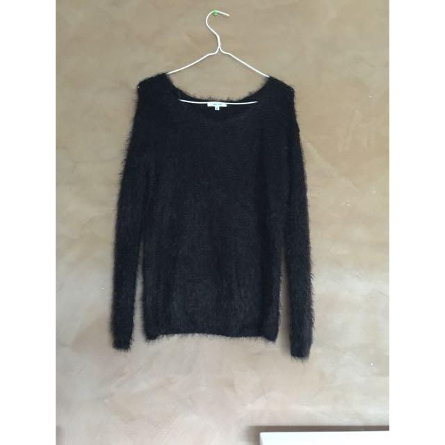 Black Knitted Jumper