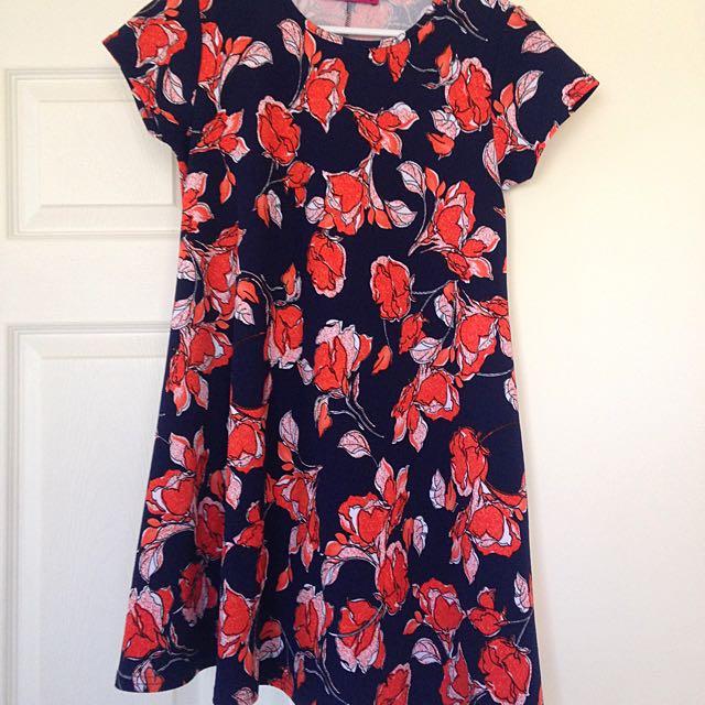 Boohoo Crepe Smock Dress