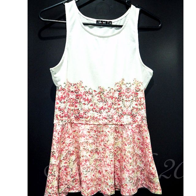 Chica Booti Designer Tropical Floral Sleeveless Top Size S