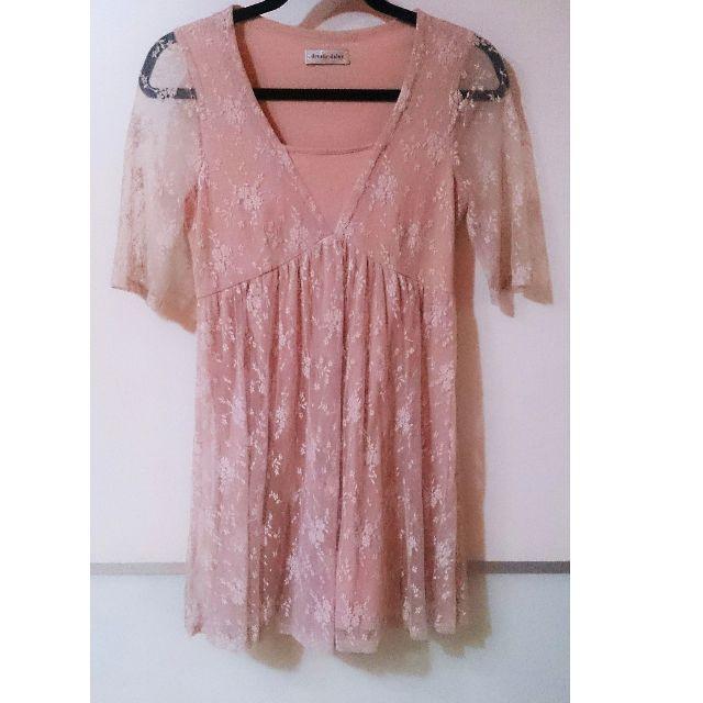 dressy daisy日牌專櫃蕾絲棉洋裝