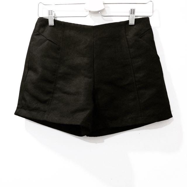 Fifth超挺黑色西裝短褲