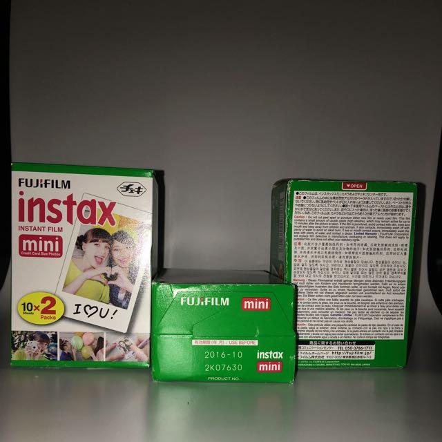 Fujifilm Instax Mini Films x 3 (60 films)