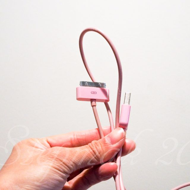 iPhone 4 Cable (Dirty Pink)