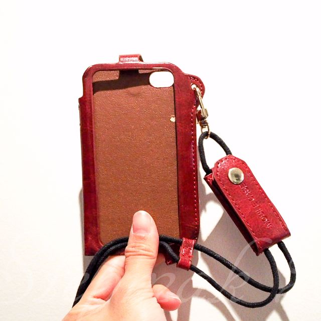 iPhone 4 Case (Dark Red with sling)