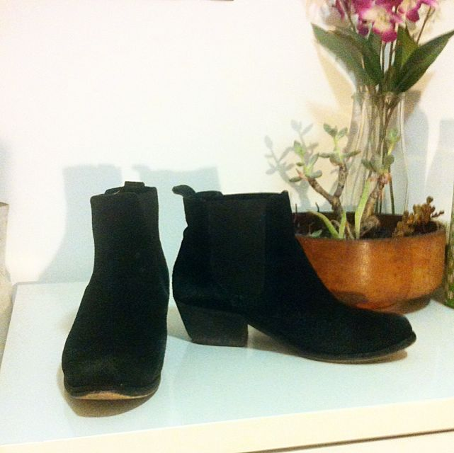Leather Suede Boots