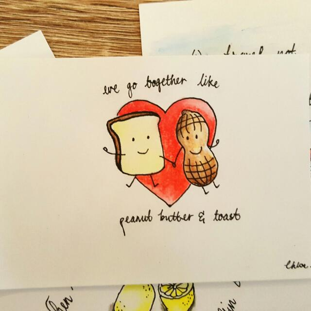 ♡Lovely Handmade Cards With Cute Cartoon & Quotes♡, Design ...