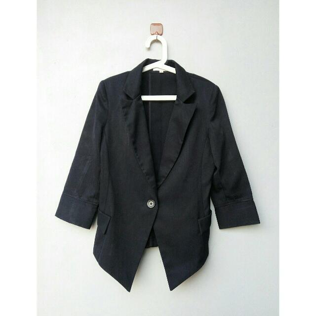 Navy Blazer By Kivee