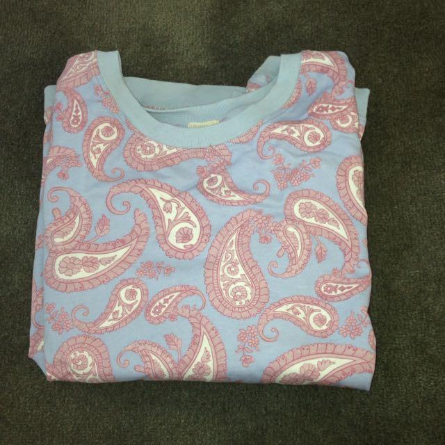paisley print large jumper