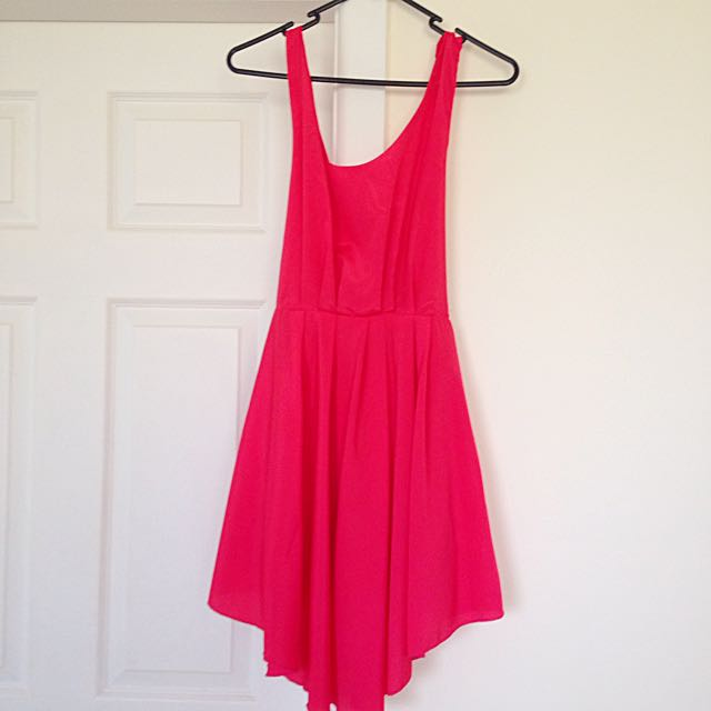 Pinky Red Going Out Dress