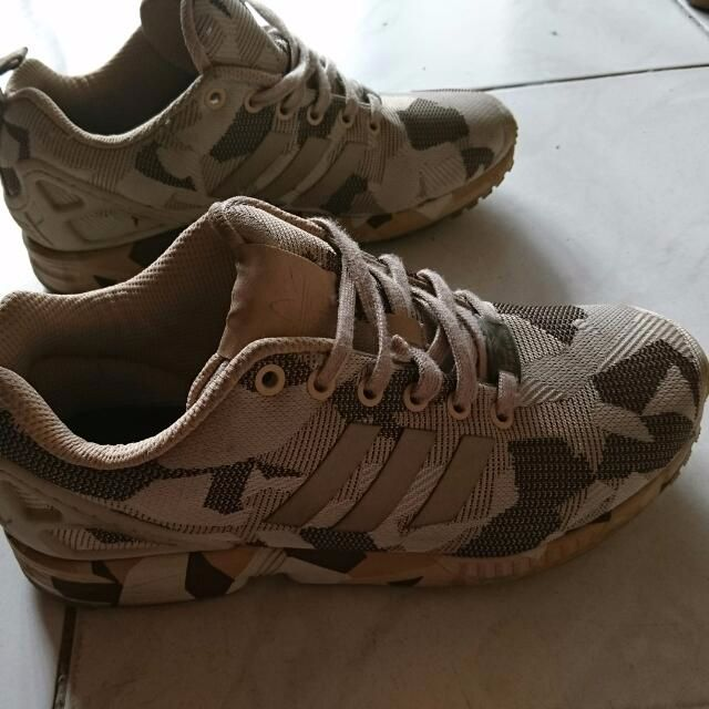 brand new 39c91 5f23e Pre-loved Adidas ZX FLux Camo Brown UK 6 / US 6.5, Sports on ...