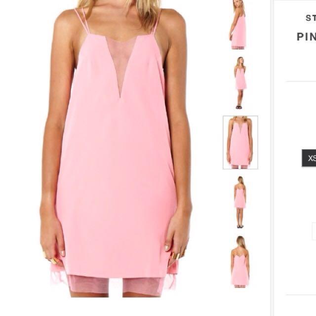 Staple The Label Pink Slip Dress size 6-10