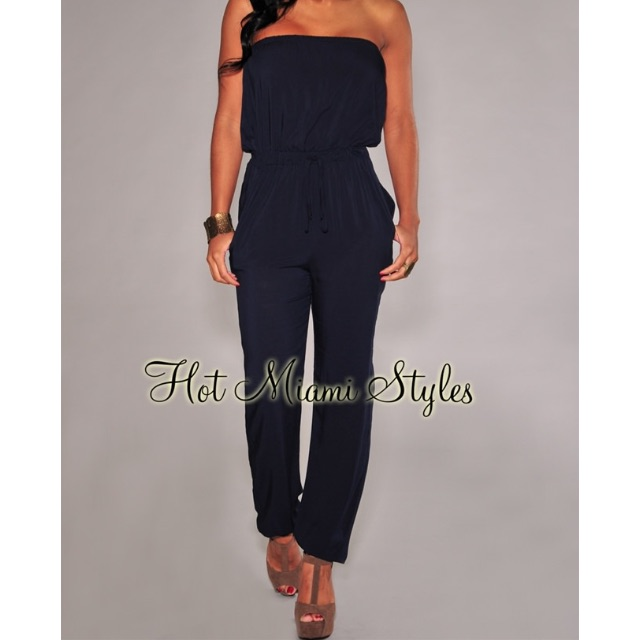 Strapless Jumpsuit (Black)