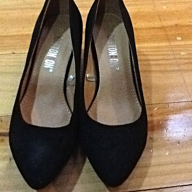 [pending]Suede Black Cotton On Wedges