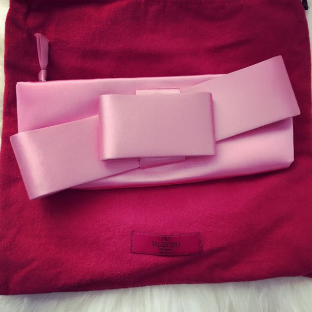 Valentino Pink Bow Clutch