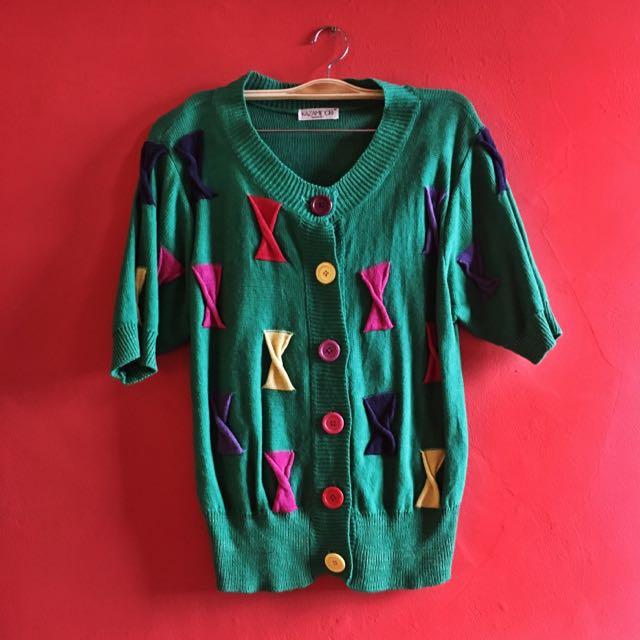 Vintage Fun Sweater Blouse