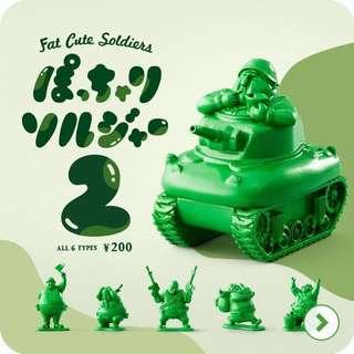 日本帶回 限量扭蛋 胖士兵 綠色小兵 胖胖軍團 胖胖兵團