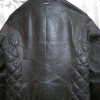 Real Leather Jacket Fila Ferrari Official