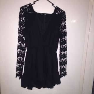 Play Suite Boho Style Black Size 8