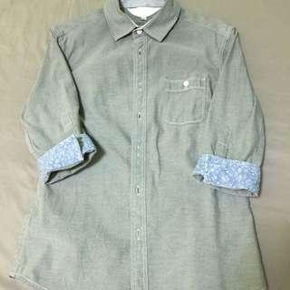 5分袖襯衫