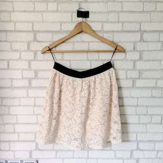 BNWOT Skirt   Cream Lace   P & Co