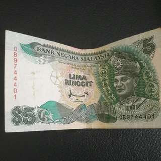 Rm 5 / MYR 5 OLD NOTE