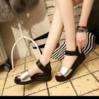 韓版厚底鬆糕涼鞋