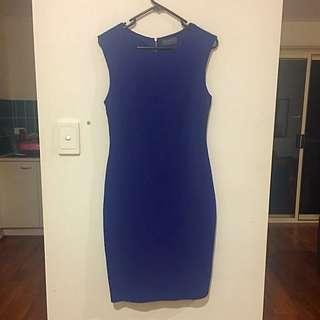 Mirrou Blue Work Dress